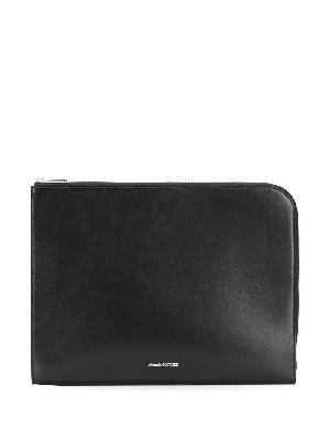 Alexander McQueen zip-fastening clutch