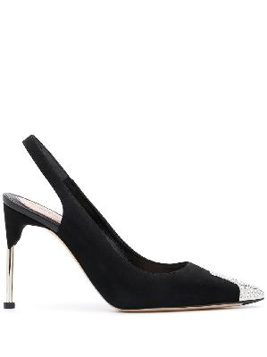 Alexander McQueen crystal-embellished cut-out pumps