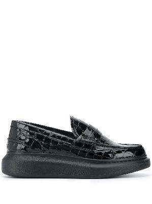 Alexander McQueen crocodile-effect chunky loafers