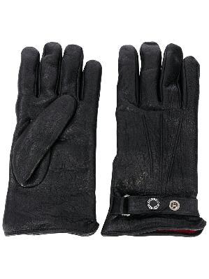 Alexander McQueen press-stud strap leather gloves