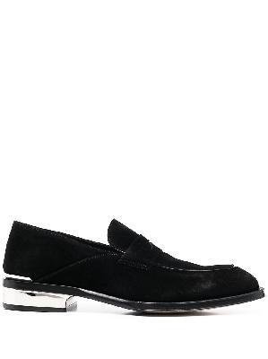 Alexander McQueen metallic heel loafers