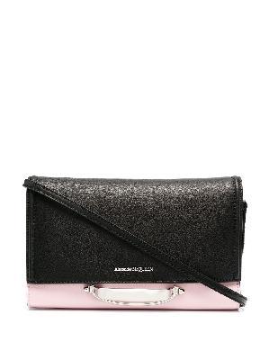 Alexander McQueen two-tone clutch bag