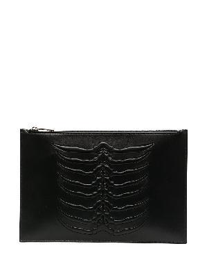 Alexander McQueen embossed zip pouch bag