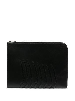 Alexander McQueen oversized leather clutch bag