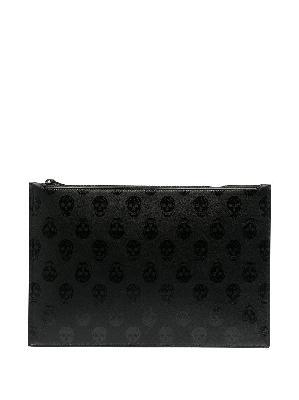 Alexander McQueen skull-print zipped clutch bag