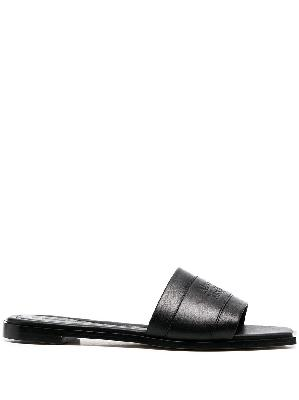 Alexander McQueen logo-detail slippers