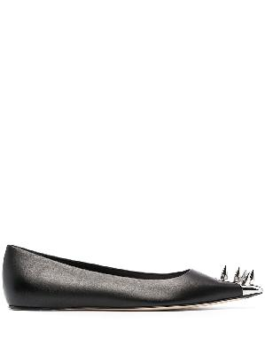 Alexander McQueen spike stud ballerina shoes