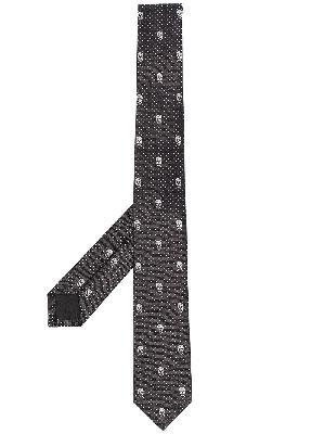 Alexander McQueen Skull motif jacquard tie