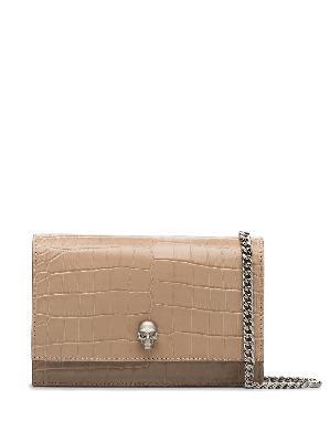 Alexander McQueen Skull leather mini bag