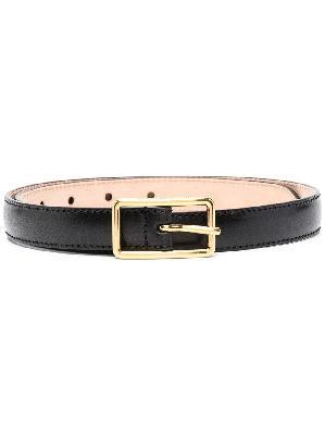 Alexander McQueen thin geometrical buckled belt