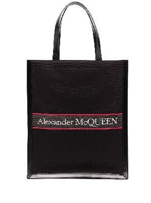 Alexander McQueen embroidered-logo tote bag