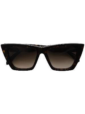 Alexander McQueen tortoiseshell-detail cat-eye frame sunglasses