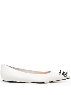 Alexander McQueen spike-detail flat ballerina shoes