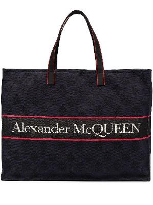 Alexander McQueen East West Selvedge logo tote bag