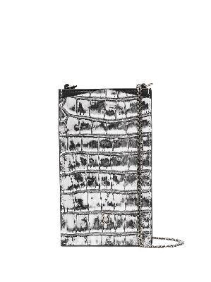 Alexander McQueen crocodile-effect phone bag