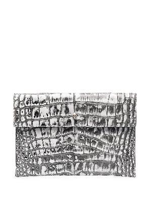 Alexander McQueen crocodile-effect clutch