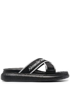 Alexander McQueen logo slip-on sandals