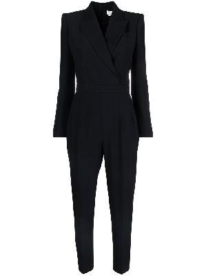 Alexander McQueen crepe tuxedo jumpsuit