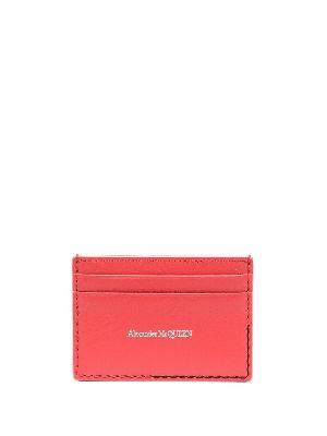 Alexander McQueen logo-print leather cardholder