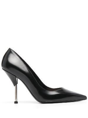 Alexander McQueen leather pointed stiletto pumps