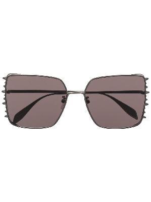 Alexander McQueen oversize-frame tinted sunglasses