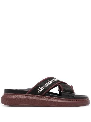 Alexander McQueen logo-print slip-on sandals