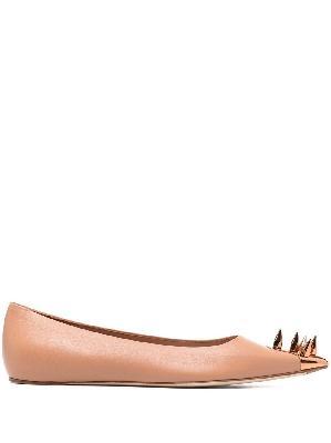 Alexander McQueen Punk Stud ballerina shoes