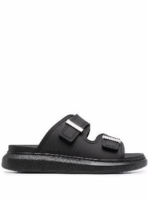 Alexander McQueen Oversized strap-front sandals