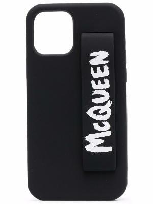 Alexander McQueen graffiti-logo iPhone 12 Pro cover