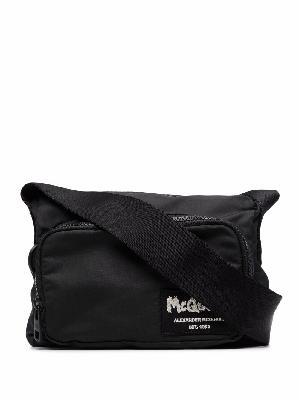 Alexander McQueen logo-patch crossbody bag