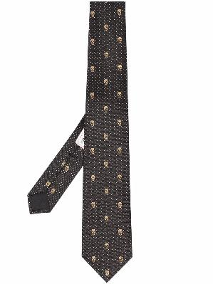 Alexander McQueen silk skull-pattern tie