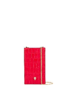 Alexander McQueen skull chain phone case