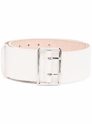 Alexander McQueen double-buckle leather belt