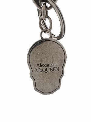 Alexander McQueen logo-print skull keyring