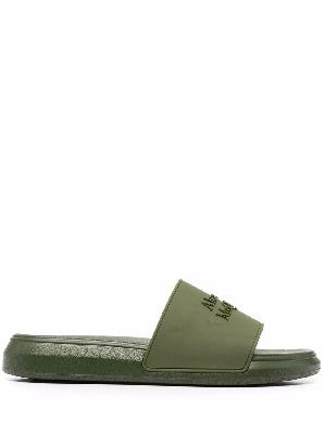 Alexander McQueen logo-embossed open-toe slides