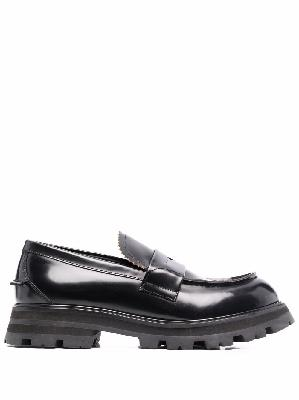 Alexander McQueen lug-sole penny loafers