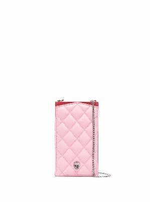 Alexander McQueen quilted phone holder