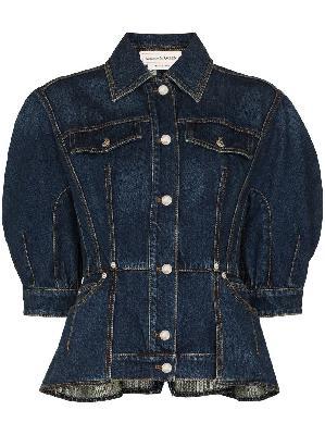 Alexander McQueen puff sleeves denim jacket