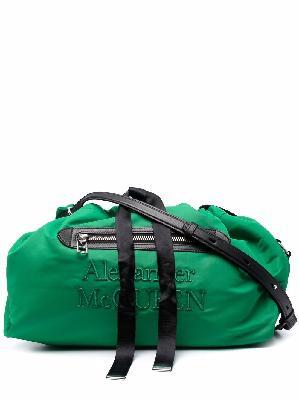 Alexander McQueen logo-print drawstring shoulder bag