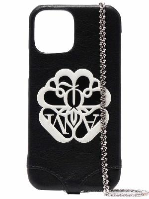 Alexander McQueen logo-print iPhone 12 case