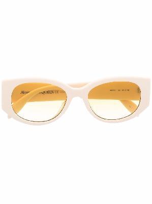 Alexander McQueen logo-print arm sunglasses