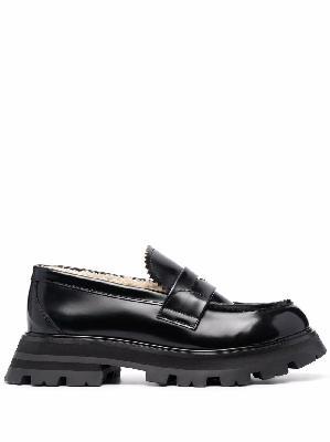 Alexander McQueen lug sole loafers