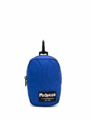 Alexander McQueen logo-patch mini pouch