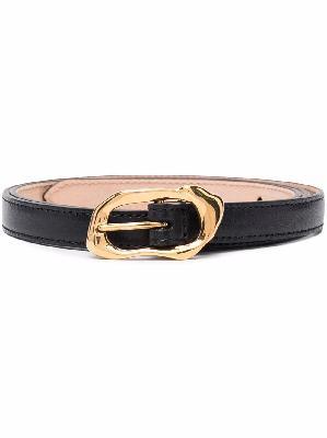 Alexander McQueen slim gold buckle belt
