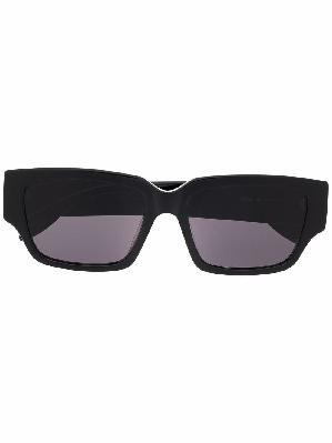 Alexander McQueen logo-arm rectangle-frame sunglasses