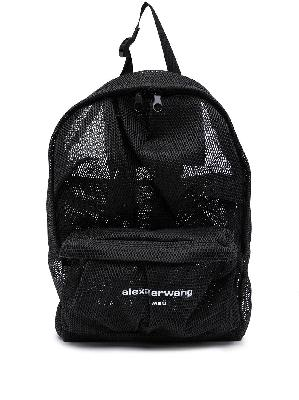 Alexander Wang logo mesh backpack