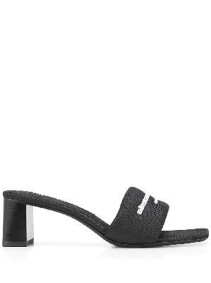 Alexander Wang logo-print mules