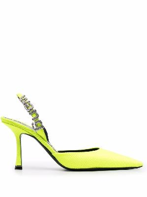 Alexander Wang 90mm logo lettering pointed-toe pumps