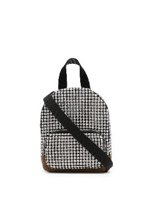 Alexander Wang crystal-embellished mini crossbody backpack bag