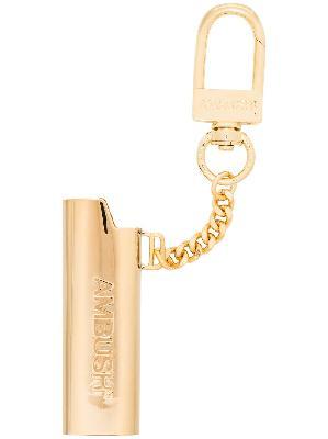 AMBUSH embossed logo lighter case keychain